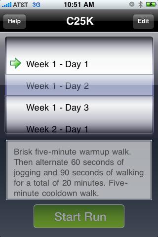 C25K iPhone App
