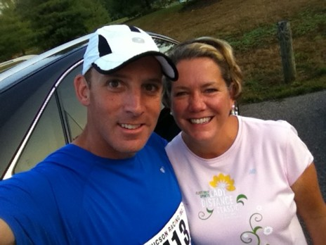 Michelle and I prior to the Celebrate Summer 5K/10K