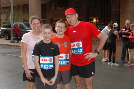 The whole family after the race.