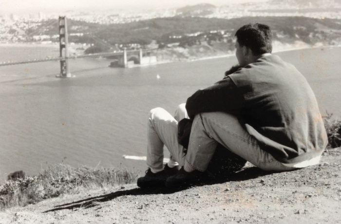 My (future) wife and I taking in the Golden Gate Bridge in 1997